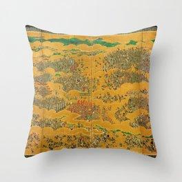 Siege of Osaka Castle Throw Pillow