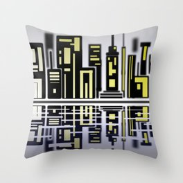 SoapsAndRoses: Cityscape Throw Pillow