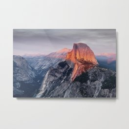 Sunset in Yosemite National Park, North America from Glacier Point  view Metal Print