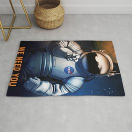 NASA Wants You Vintage Poster from 70s Moon Astronaut Artwork For Prints Posters Tshirts Bags Men Wo Rug
