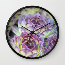 Purple Cactus Pedals Wall Clock