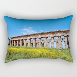 Ruins of the Segesta Temple on the Isle of Sicily Rectangular Pillow