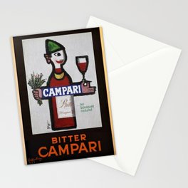 Vintage Bitter Cordial Campari Advertising Poster No. 1 Stationery Cards