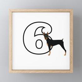 Type 6 Enneagram Dog Doberman Framed Mini Art Print