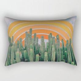 Cactus and Rainbow Rectangular Pillow