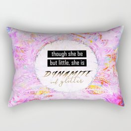 Watercolor Pastel Boho Dynamite and Glitter Rectangular Pillow