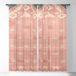 South West Anatolia  Antique Turkish Niche Kilim Print Sheer Curtain