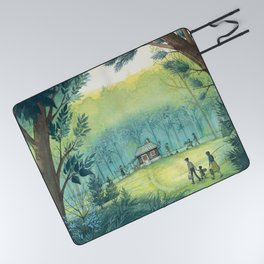 Home In The Woods Picnic Blanket
