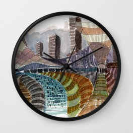 Meandering Landscapes: November Train Wall Clock