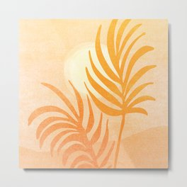 Abstract Rustic Landscape Metal Print
