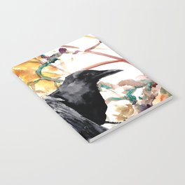 Ravens in the Fall, raven wall art Notebook