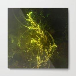 Magical Fractal Fairy Ferns in an Emerald Forest Metal Print