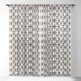 B&W Tribal #society6 #tribal Sheer Curtain
