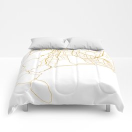 CAPE TOWN SOUTH AFRICA CITY STREET MAP ART Comforters