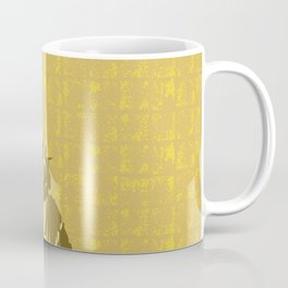 Gold Statue of Liberty on the Gold-leaf Screen Coffee Mug