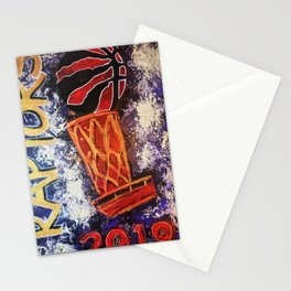 raptors 2,champion,basketball,gold,poster,wall art,2019,winners,NBA,finals,toronto,canada,painting Stationery Cards