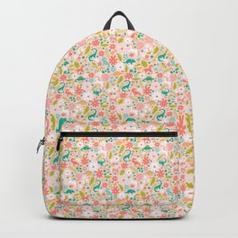 Dinosaurs + Unicorns in Pink + Teal Backpack