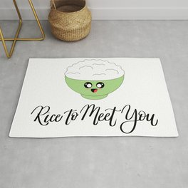 Rice to Meet You Pun Rug