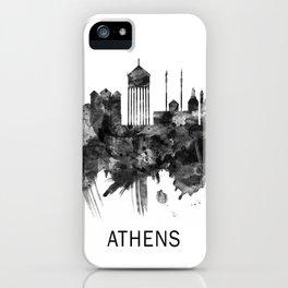 Athens Greece Skyline BW iPhone Case