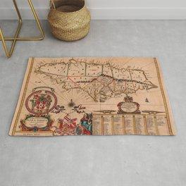 Map Of Jamaica 1671 Rug