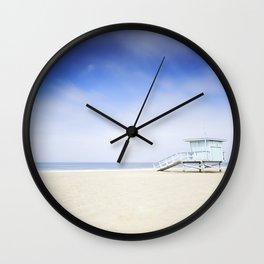 Zuma Beach Lifeguard Hut - Long Exposure Wall Clock