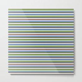 Earthy Stripe Metal Print