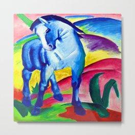 Franz Marc Blue Horse Metal Print
