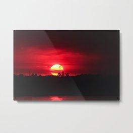 Smokey sunset Buff Point NSW Metal Print