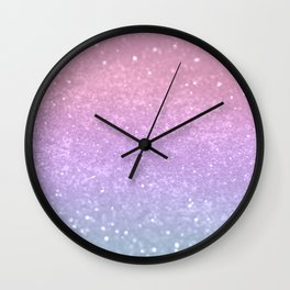 Unicorn Princess Glitter #1 (Photography) #pastel #decor #art #society6 Wall Clock