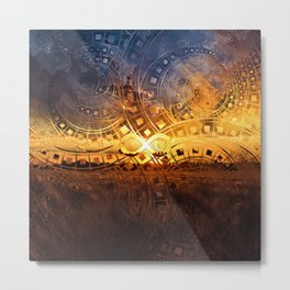 The Endless Sunset Over Our Golden Elysian Fields Metal Print