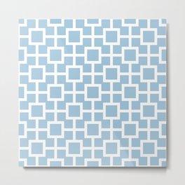 Classic Hollywood Regency Pattern 221 Light Blue Metal Print