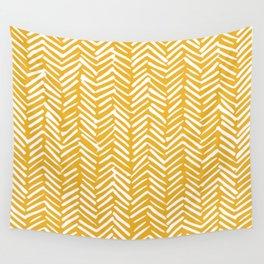 Boho Mudcloth Pattern, Summer Yellow Wall Tapestry