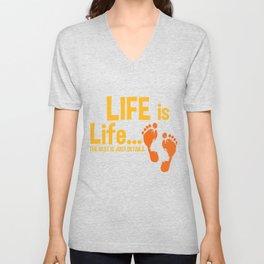 Christian Life Is Life Pro Life Gift Print Anti Abortion Tee Unisex V-Neck