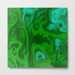 Malachite green Metal Print