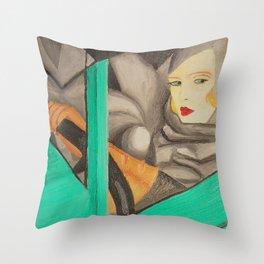 Self-Portrait - Tamara de Lempicka Throw Pillow