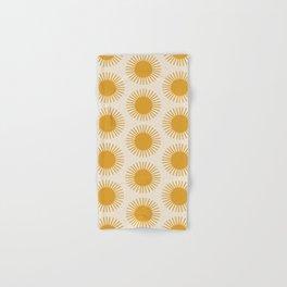 Golden Sun Pattern Hand & Bath Towel