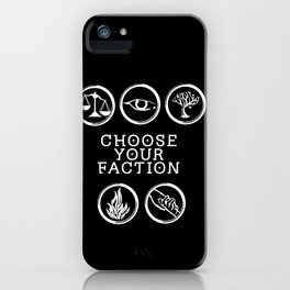 Divergent - Choose Your Faction (White) iPhone Case