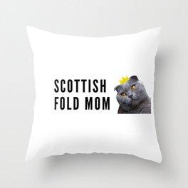 Scottish Fold Mom Throw Pillow