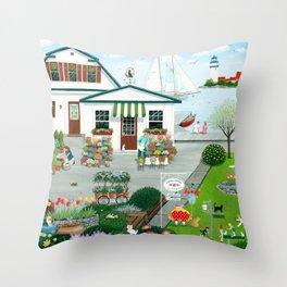 Purr-fect Blooms Throw Pillow