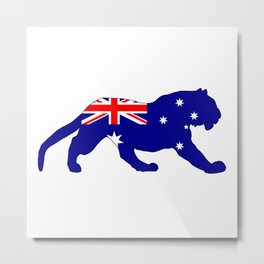 Australian Flag - Tiger Metal Print