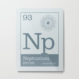 Periodic Elements - 93 Neptunium (Np) Metal Print