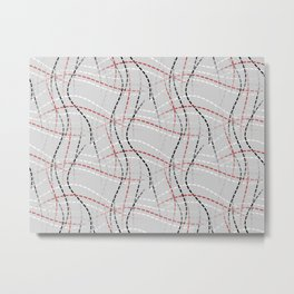 Stitches Abstract Metal Print