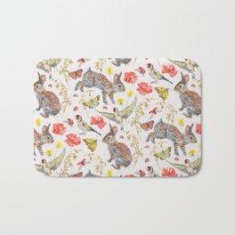 Bunny Meadow Pattern Bath Mat