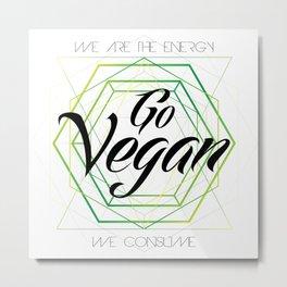 Vegan Geometry Metal Print
