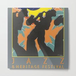 1980 New Orleans Jazz Festival Advertising Gig Poster Metal Print