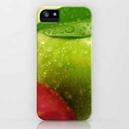 Fresh red and Green Appel in contrasts iPhone Case