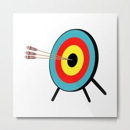 Three Arrow Bullseye Metal Print
