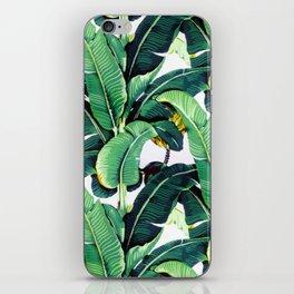 Tropical Banana leaves pattern iPhone Skin