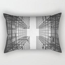 Black and White Skyscraper Rectangular Pillow