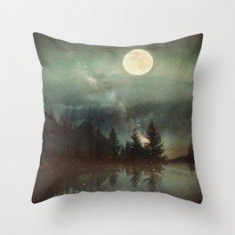 Midnight Fireflies Throw Pillow